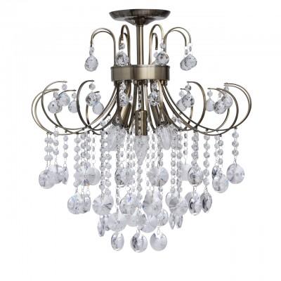 Mw light 464018005 Люстрахрустальные потолочные люстры<br><br><br>Установка на натяжной потолок: Да<br>S освещ. до, м2: 15<br>Тип лампы: Накаливания / энергосбережения / светодиодная<br>Тип цоколя: E14<br>Цвет арматуры: бронзовый<br>Количество ламп: 5<br>Диаметр, мм мм: 520<br>Высота, мм: 570<br>MAX мощность ламп, Вт: 60