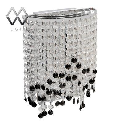 Светильник настенный бра Mw light 464020602 БризХрустальные<br>Описание модели 464020602: Это чудесное бра из коллекции «Бриз» - олицетворение высокого качества и гламурной роскоши. Металлическое основание цвета хрома обрамляют хрустальные подвесы, напоминающие драгоценные гроздья прозрачного хрусталя, венчающиеся контрастными чёрными хрустальными каплями. Бра удивляет необычными сочетаниями и отточенной техникой исполнения. Оно разнообразит обстановку комнаты и подчеркнет безупречный вкус владельца. Рекомендуемая площадь освещения порядка 6 кв.м.<br><br>S освещ. до, м2: 6<br>Тип товара: Светильник настенный бра<br>Тип лампы: накаливания / энергосбережения / LED-светодиодная<br>Тип цоколя: E14<br>Количество ламп: 2<br>Ширина, мм: 120<br>MAX мощность ламп, Вт: 60<br>Длина, мм: 200<br>Высота, мм: 300<br>Поверхность арматуры: глянцевый<br>Цвет арматуры: серебристый<br>Общая мощность, Вт: 120