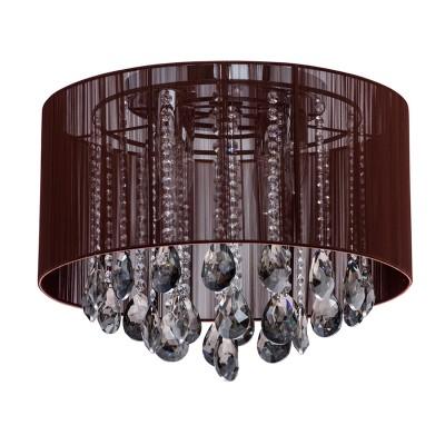 Светильник Mw-light 465014506Потолочные<br>465014506 - это Всё сияет и играет от яркого света в светильниках из коллекции Жаклин. Такая люстра украсит элегантные интерьеры, выполненные в ярких современных стилях: Эклектика, Ар-деко, Модерн. Гроздья декоративных хрустальных подвесок переливаются своими точёными гранями. Они создают основу оформления гламурного коричневого светильника с хромированным основанием. Объёмный каркас текстильного абажура с отделкой из переливающейся тесьмы цвета Шоколад прекрасно завершает образ светильников Жаклин.<br><br>S освещ. до, м2: 18<br>Тип лампы: накаливания / энергосбережения / LED-светодиодная<br>Тип цоколя: E14<br>Количество ламп: 6<br>MAX мощность ламп, Вт: 60<br>Диаметр, мм мм: 450<br>Высота, мм: 350