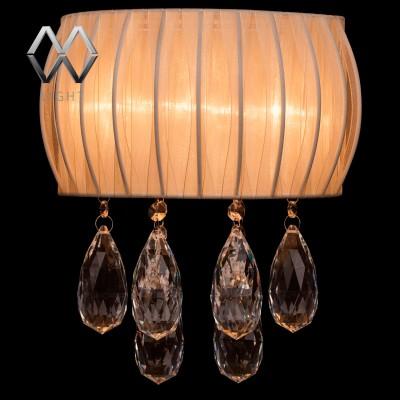 Светильник настенный бра Mw light 465022603 ЖаклинХрустальные<br>Описание модели 465022603: Искристость органзы и радужность хрусталя! Всё сияет и переливается радужными бликами от яркого света светильника из коллекции Жаклин. Гроздья декоративных хрустальных подвесок играют своими точёными гранями. Они создают основу оформления гламурного светильника. Объёмный каркас абажура с органзой нежно-ванильного цвета прекрасно завершает образ светильника Жаклин, который выглядит как драгоценное изделие из чистого золота.<br><br>S освещ. до, м2: 4<br>Тип лампы: галогенная<br>Тип цоколя: G4<br>Ширина, мм: 160<br>MAX мощность ламп, Вт: 20<br>Длина, мм: 260<br>Расстояние от стены, мм: 160<br>Высота, мм: 300<br>Общая мощность, Вт: 20