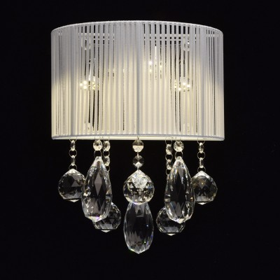 Mw light Жаклин 465024804 Светильник браХрустальные<br><br><br>Тип лампы: LED<br>Тип цоколя: LED<br>Количество ламп: 4<br>Ширина, мм: 240<br>MAX мощность ламп, Вт: 3<br>Расстояние от стены, мм: 150<br>Высота, мм: 310