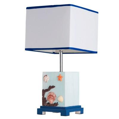 Настольная лампа Mw light 470031101 МаякМорской стиль<br><br><br>S освещ. до, м2: 3<br>Тип товара: Настольная лампа<br>Тип лампы: накаливания / энергосбережения / LED-светодиодная<br>Тип цоколя: E27<br>Количество ламп: 1<br>Ширина, мм: 200<br>MAX мощность ламп, Вт: 60<br>Длина, мм: 200<br>Высота, мм: 400<br>Поверхность арматуры: глянцевый, матовый, рельефный<br>Цвет арматуры: голубой<br>Общая мощность, Вт: 60