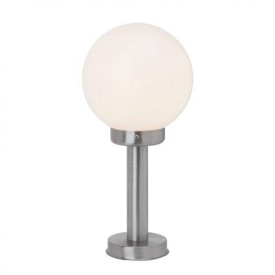 Светильник уличный Brilliant 47284/82 MadisonФонари на столб<br>Зачастую мы ищем идеальное освещение для своего дома и уделяем этому достаточно много времени. Так, например, если нам нужен светильник с количеством ламп - 1 и цвет плафонов должен быть - белый, а материал плафонов только пластик! То нам, как вариант, подойдет модель - светильник уличный Brilliant 47284/82.<br><br>S освещ. до, м2: до 4<br>Тип лампы: накаливания / энергосбережения / LED-светодиодная<br>Тип цоколя: E27<br>Количество ламп: 1<br>MAX мощность ламп, Вт: 60<br>Диаметр, мм мм: 200<br>Высота, мм: 420<br>Цвет арматуры: серебристый