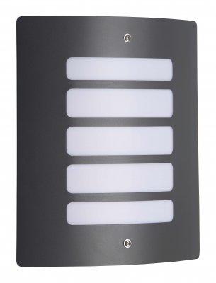 Светильник Brilliant 47682/63 ToddНастенные<br><br><br>S освещ. до, м2: до 4<br>Тип товара: Светильник уличный<br>Тип лампы: накаливания / энергосбережения / LED-светодиодная<br>Тип цоколя: E27<br>Количество ламп: 1<br>Ширина, мм: 240<br>MAX мощность ламп, Вт: 60<br>Высота, мм: 290<br>Цвет арматуры: серый
