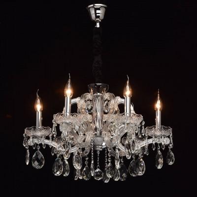 Mw light 479011206 СветильникПодвесные<br><br><br>Установка на натяжной потолок: Да<br>S освещ. до, м2: 12<br>Тип лампы: Накаливания / энергосбережения / светодиодная<br>Тип цоколя: E14<br>Количество ламп: 6<br>Диаметр, мм мм: 600<br>Высота, мм: 570 - 1040<br>MAX мощность ламп, Вт: 40