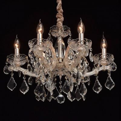 Mw light 479011806 СветильникПодвесные<br><br><br>Установка на натяжной потолок: Да<br>S освещ. до, м2: 18<br>Тип лампы: Накаливания / энергосбережения / светодиодная<br>Тип цоколя: E14<br>Цвет арматуры: золотой<br>Количество ламп: 6<br>Диаметр, мм мм: 600<br>Высота, мм: 530 - 980<br>MAX мощность ламп, Вт: 60