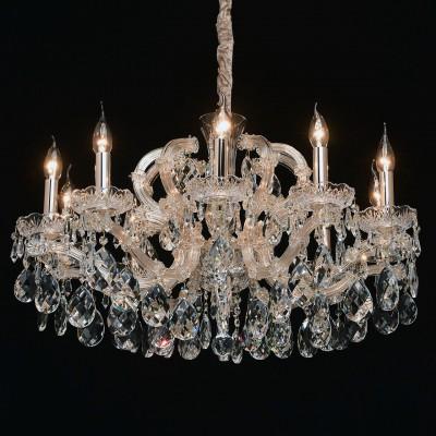 Mw light 479012510 СветильникПодвесные<br><br><br>Установка на натяжной потолок: Да<br>S освещ. до, м2: 20<br>Тип лампы: Накаливания / энергосбережения / светодиодная<br>Тип цоколя: E14<br>Количество ламп: 10<br>Диаметр, мм мм: 740<br>Высота, мм: 650 - 1100<br>MAX мощность ламп, Вт: 40
