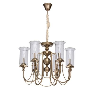 Mw light 481012606 СветильникПодвесные<br><br><br>Установка на натяжной потолок: Да<br>S освещ. до, м2: 18<br>Тип лампы: Накаливания / энергосбережения / светодиодная<br>Тип цоколя: E14<br>Количество ламп: 6<br>Диаметр, мм мм: 600<br>Высота, мм: 610 - 1000<br>MAX мощность ламп, Вт: 60