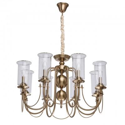 Mw light 481012708 СветильникПодвесные<br><br><br>Установка на натяжной потолок: Да<br>S освещ. до, м2: 24<br>Тип лампы: Накаливания / энергосбережения / светодиодная<br>Тип цоколя: E14<br>Количество ламп: 8<br>Диаметр, мм мм: 820<br>Высота, мм: 620 - 1000<br>MAX мощность ламп, Вт: 60