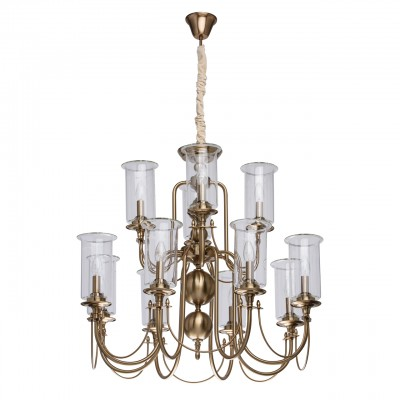 481012812 Mw light СветильникПодвесные<br><br><br>Установка на натяжной потолок: Да<br>S освещ. до, м2: 24<br>Тип лампы: Накаливания / энергосбережения / светодиодная<br>Тип цоколя: E14<br>Количество ламп: 12<br>MAX мощность ламп, Вт: 40<br>Диаметр, мм мм: 800<br>Высота, мм: 1300