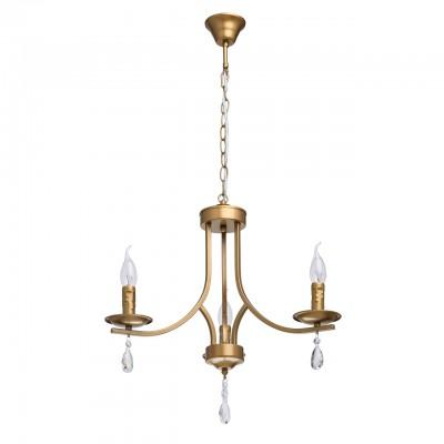 Светильник De Markt 481013003Подвесные<br><br><br>S освещ. до, м2: 6<br>Тип лампы: накаливания / энергосбережения / LED-светодиодная<br>Тип цоколя: E14<br>Цвет арматуры: золотой<br>Количество ламп: 3<br>Диаметр, мм мм: 520<br>Высота, мм: 900<br>MAX мощность ламп, Вт: 40