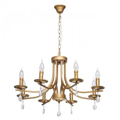 Светильник De Markt 481013108Подвесные<br><br><br>Тип лампы: Накаливания / энергосбережения / светодиодная<br>Тип цоколя: E14<br>Цвет арматуры: золотой<br>Количество ламп: 8<br>Диаметр, мм мм: 700<br>Высота, мм: 900