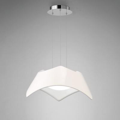 Подвесной светильник Mantra 4813 MAUIподвесные люстры хай тек<br><br><br>Установка на натяжной потолок: Да<br>S освещ. до, м2: 3<br>Тип лампы: Энергосберегающие (не входят в комплект)<br>Тип цоколя: E27<br>Цвет арматуры: белый<br>Количество ламп: 3<br>Диаметр, мм мм: 630<br>Высота, мм: 1500 (плафон 350)<br>MAX мощность ламп, Вт: 20