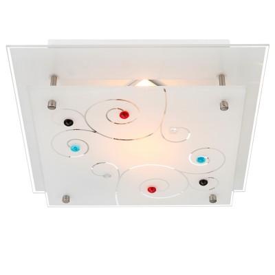Светильник Globo 48140-1Квадратные<br><br><br>S освещ. до, м2: 1<br>Тип товара: Светильник настенно-потолочный<br>Скидка, %: 72<br>Тип лампы: Накаливания / энергосбережения / светодиодная<br>Тип цоколя: E27 ILLU<br>Количество ламп: 1<br>Ширина, мм: 250<br>MAX мощность ламп, Вт: 40<br>Длина, мм: 250<br>Высота, мм: 80<br>Цвет арматуры: серебристый