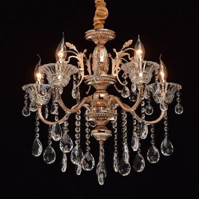 Mw light 482013105 Светильникподвесные хрустальные люстры<br><br><br>Установка на натяжной потолок: Да<br>S освещ. до, м2: 10<br>Тип лампы: Накаливания / энергосбережения / светодиодная<br>Тип цоколя: E14<br>Количество ламп: 5<br>Диаметр, мм мм: 570<br>Высота, мм: 700 - 920<br>MAX мощность ламп, Вт: 40