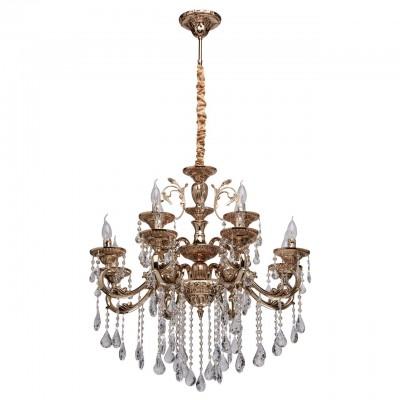 482014912 Mw light СветильникПодвесные<br><br><br>Установка на натяжной потолок: Да<br>S освещ. до, м2: 24<br>Тип лампы: Накаливания / энергосбережения / светодиодная<br>Тип цоколя: E14<br>Количество ламп: 12<br>Диаметр, мм мм: 780<br>Высота, мм: 1400