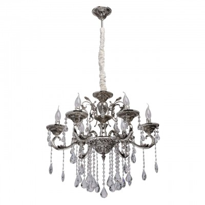 482015106 Mw light Светильниклюстры подвесные классические<br><br><br>Установка на натяжной потолок: Да<br>S освещ. до, м2: 12<br>Тип лампы: Накаливания / энергосбережения / светодиодная<br>Тип цоколя: E14<br>Количество ламп: 6<br>Диаметр, мм мм: 600<br>Высота, мм: 1250<br>MAX мощность ламп, Вт: 40