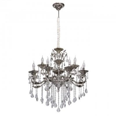 482015412 Mw light СветильникПодвесные<br><br><br>Установка на натяжной потолок: Да<br>S освещ. до, м2: 24<br>Тип лампы: Накаливания / энергосбережения / светодиодная<br>Тип цоколя: E14<br>Количество ламп: 12<br>MAX мощность ламп, Вт: 40<br>Диаметр, мм мм: 780<br>Высота, мм: 1400