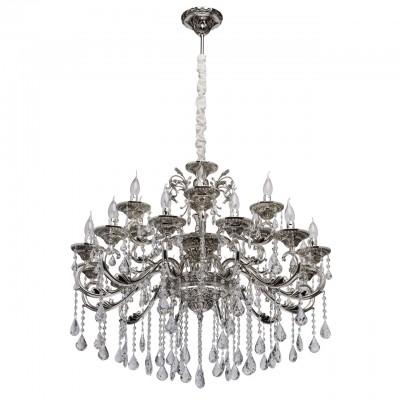482015518 Mw light СветильникПодвесные<br><br><br>Тип лампы: Накаливания / энергосбережения / светодиодная<br>Тип цоколя: E14<br>Количество ламп: 18<br>Диаметр, мм мм: 1070<br>Высота, мм: 1500
