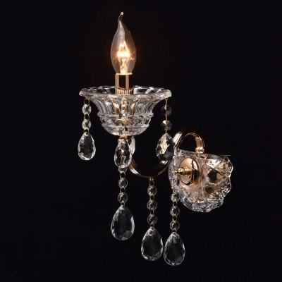 Mw light Селена 482023401 Светильник браХрустальные<br><br><br>Тип лампы: Накаливания / энергосбережения / светодиодная<br>Тип цоколя: E14<br>Количество ламп: 1<br>Ширина, мм: 130<br>MAX мощность ламп, Вт: 40<br>Расстояние от стены, мм: 280<br>Высота, мм: 250<br>Цвет арматуры: золотой
