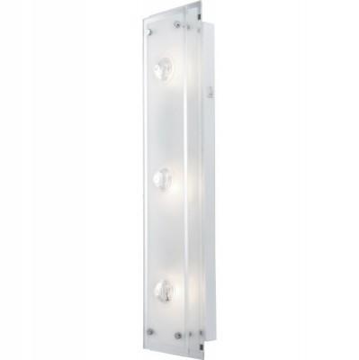Светильник Globo 48328-3W MalagaДлинные<br>Настенно потолочный светильник Globo (Глобо) 48328-3W   подходит как для установки в вертикальном положении - на стены, так и для установки в горизонтальном - на потолок. Для установки настенно потолочных светильников на натяжной потолок необходимо использовать светодиодные лампы LED, которые экономнее ламп Ильича (накаливания) в 10 раз, выделяют мало тепла и не дадут расплавиться Вашему потолку.<br><br>S освещ. до, м2: 8<br>Тип лампы: накаливания / энергосбережения / LED-светодиодная<br>Тип цоколя: E14<br>Количество ламп: 3<br>Ширина, мм: 130<br>MAX мощность ламп, Вт: 40<br>Длина, мм: 600<br>Расстояние от стены, мм: 100<br>Цвет арматуры: серебристый