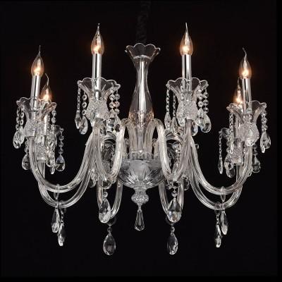 Mw light 486010508 Светильникподвесные хрустальные люстры<br><br><br>Установка на натяжной потолок: Да<br>S освещ. до, м2: 16<br>Тип лампы: Накаливания / энергосбережения / светодиодная<br>Тип цоколя: E14<br>Количество ламп: 8<br>Диаметр, мм мм: 720<br>Высота, мм: 720 - 1180<br>MAX мощность ламп, Вт: 40