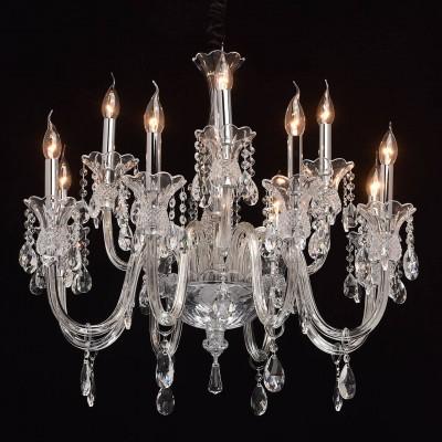 Mw light 486010612 СветильникПодвесные<br><br><br>Установка на натяжной потолок: Да<br>S освещ. до, м2: 24<br>Тип лампы: Накаливания / энергосбережения / светодиодная<br>Тип цоколя: E14<br>Количество ламп: 12<br>Диаметр, мм мм: 755<br>Высота, мм: 800 - 1200<br>MAX мощность ламп, Вт: 40