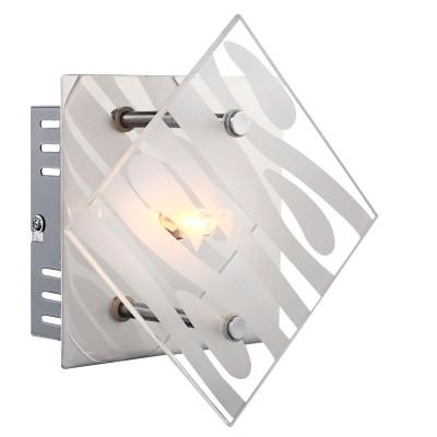 Светильник бра Globo 48694-1Модерн<br><br><br>Тип лампы: галогенная/LED<br>Тип цоколя: G9<br>Количество ламп: 1<br>Ширина, мм: 78<br>MAX мощность ламп, Вт: 33<br>Длина, мм: 170<br>Высота, мм: 170<br>Цвет арматуры: серебристый