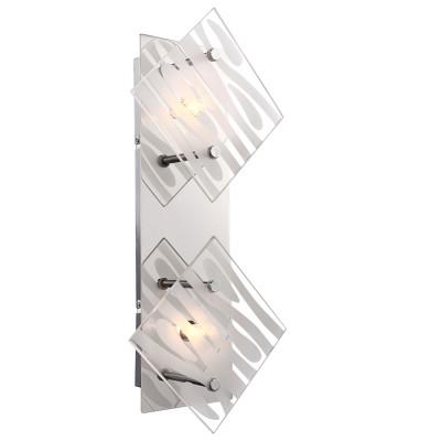 Светильник Globo 48694-2Современные<br><br><br>Тип лампы: галогенная/LED<br>Тип цоколя: G9<br>Цвет арматуры: серебристый<br>Количество ламп: 2<br>Ширина, мм: 95<br>Длина, мм: 170<br>Высота, мм: 370<br>MAX мощность ламп, Вт: 33