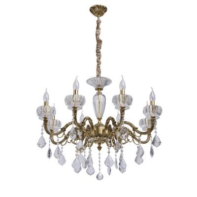 Mw light 491012608 СветильникПодвесные<br><br><br>Установка на натяжной потолок: Да<br>S освещ. до, м2: 16<br>Тип лампы: Накаливания / энергосбережения / светодиодная<br>Тип цоколя: E14<br>Количество ламп: 8<br>Диаметр, мм мм: 740<br>Высота, мм: 750 - 1400<br>MAX мощность ламп, Вт: 40