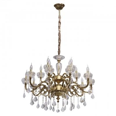 CHIARO Габриэль 491012715 ЛюстраПодвесные<br><br><br>Установка на натяжной потолок: Да<br>S освещ. до, м2: 30<br>Тип цоколя: E14<br>Количество ламп: 15<br>MAX мощность ламп, Вт: 40<br>Диаметр, мм мм: 950<br>Высота, мм: 1350<br>Цвет арматуры: медный