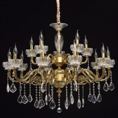CHIARO Габриэль 491012715 ЛюстраОжидается<br><br><br>Установка на натяжной потолок: Да<br>S освещ. до, м2: 30<br>Тип цоколя: E14<br>Количество ламп: 15<br>MAX мощность ламп, Вт: 40<br>Диаметр, мм мм: 950<br>Высота, мм: 1350<br>Цвет арматуры: медный
