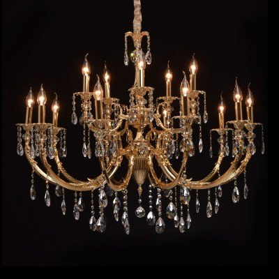 CHIARO Габриэль 491013115 ЛюстраПодвесные<br><br><br>Установка на натяжной потолок: Да<br>S освещ. до, м2: 30<br>Тип цоколя: E14<br>Цвет арматуры: золотой<br>Количество ламп: 15<br>Диаметр, мм мм: 1000<br>Высота, мм: 1450<br>MAX мощность ламп, Вт: 40