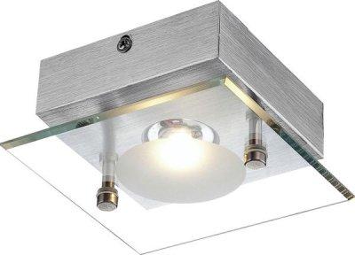 Светильник Globo 49200-1 BertoКвадратные<br><br><br>S освещ. до, м2: 2<br>Тип товара: Светильник настенно-потолочный<br>Скидка, %: 55<br>Тип лампы: LED - светодиодная<br>Тип цоколя: LED<br>Количество ламп: 1<br>Ширина, мм: 120<br>MAX мощность ламп, Вт: 5<br>Длина, мм: 120<br>Высота, мм: 60<br>Цвет арматуры: серый
