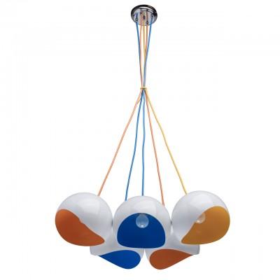 Светильник Regenbogen life 492014305Подвесные<br><br><br>S освещ. до, м2: 15<br>Тип лампы: Накаливания / энергосбережения / светодиодная<br>Тип цоколя: E14<br>Количество ламп: 5<br>MAX мощность ламп, Вт: 60<br>Диаметр, мм мм: 520<br>Высота, мм: 200 - 1000