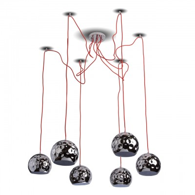 492014506 RegenBogen СветильникПодвесные<br><br><br>Установка на натяжной потолок: Да<br>S освещ. до, м2: 12<br>Тип лампы: Накаливания / энергосбережения / светодиодная<br>Тип цоколя: E14<br>Количество ламп: 6<br>Высота, мм: 200 - 2000<br>MAX мощность ламп, Вт: 40