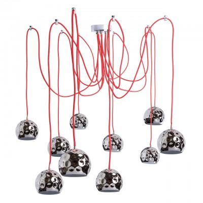 492014610 RegenBogen СветильникПодвесные<br><br><br>Установка на натяжной потолок: Да<br>S освещ. до, м2: 20<br>Тип лампы: Накаливания / энергосбережения / светодиодная<br>Тип цоколя: E14<br>Количество ламп: 10<br>Высота, мм: 150 - 2000<br>MAX мощность ламп, Вт: 40