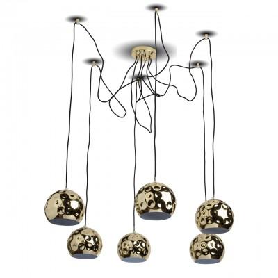 492014906 RegenBogen СветильникПодвесные<br><br><br>Тип лампы: Накаливания / энергосбережения / светодиодная<br>Тип цоколя: E14<br>Количество ламп: 6<br>MAX мощность ламп, Вт: 40<br>Высота, мм: 200 - 2000