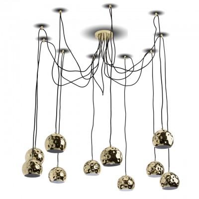 492015010 RegenBogen СветильникПодвесные<br><br><br>Установка на натяжной потолок: Да<br>S освещ. до, м2: 20<br>Тип лампы: Накаливания / энергосбережения / светодиодная<br>Тип цоколя: E14<br>Количество ламп: 10<br>MAX мощность ламп, Вт: 40<br>Высота, мм: 150 - 2000