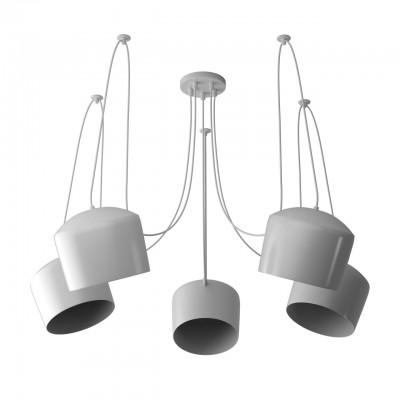 Светильник RegenBogen 492015605Подвесные<br><br><br>Тип лампы: Накаливания / энергосбережения / светодиодная<br>Тип цоколя: E27<br>Цвет арматуры: белый<br>Количество ламп: 5<br>Диаметр, мм мм: 270<br>Высота полная, мм: 2700<br>MAX мощность ламп, Вт: 60
