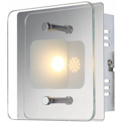 Светильник Globo 49203-1 JeminaКвадратные<br>Настенно-потолочные светильники – это универсальные осветительные варианты, которые подходят для вертикального и горизонтального монтажа. В интернет-магазине «Светодом» Вы можете приобрести подобные модели по выгодной стоимости. В нашем каталоге представлены как бюджетные варианты, так и эксклюзивные изделия от производителей, которые уже давно заслужили доверие дизайнеров и простых покупателей.  Настенно-потолочный светильник Globo 49203-1 Jemina станет прекрасным дополнением к основному освещению. Благодаря качественному исполнению и применению современных технологий при производстве эта модель будет радовать Вас своим привлекательным внешним видом долгое время. Приобрести настенно-потолочный светильник Globo 49203-1 Jemina можно, находясь в любой точке России.<br><br>S освещ. до, м2: 2<br>Тип лампы: галогенная / LED-светодиодная<br>Тип цоколя: LED<br>Количество ламп: 1<br>Ширина, мм: 140<br>MAX мощность ламп, Вт: 5<br>Длина, мм: 140<br>Высота, мм: 62<br>Цвет арматуры: серебристый