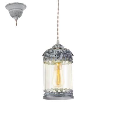 Светильник Eglo 49204Одиночные<br><br><br>Тип лампы: Накаливания / энергосбережения / светодиодная<br>Тип цоколя: E27<br>Количество ламп: 1<br>Диаметр, мм мм: 140<br>Высота, мм: 1100<br>MAX мощность ламп, Вт: 60