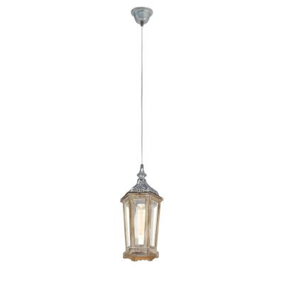 Светильник подвесной Eglo 49206Одиночные<br><br><br>Тип лампы: Накаливания / энергосбережения / светодиодная<br>Тип цоколя: E27<br>Количество ламп: 1<br>MAX мощность ламп, Вт: 60<br>Диаметр, мм мм: 155<br>Высота, мм: 1100