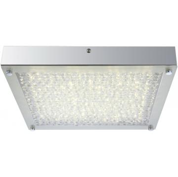 Светильник Globo 49210 Maximeквадратные светильники<br>Настенно-потолочные светильники – это универсальные осветительные варианты, которые подходят для вертикального и горизонтального монтажа. В интернет-магазине «Светодом» Вы можете приобрести подобные модели по выгодной стоимости. В нашем каталоге представлены как бюджетные варианты, так и эксклюзивные изделия от производителей, которые уже давно заслужили доверие дизайнеров и простых покупателей.  Настенно-потолочный светильник Globo 49210 станет прекрасным дополнением к основному освещению. Благодаря качественному исполнению и применению современных технологий при производстве эта модель будет радовать Вас своим привлекательным внешним видом долгое время. Приобрести настенно-потолочный светильник Globo 49210 можно, находясь в любой точке России.<br><br>S освещ. до, м2: 7<br>Тип лампы: галогенная / LED-светодиодная<br>Тип цоколя: LED<br>Цвет арматуры: серебристый<br>Количество ламп: 1<br>Ширина, мм: 300<br>Длина, мм: 300<br>Высота, мм: 50<br>MAX мощность ламп, Вт: 17