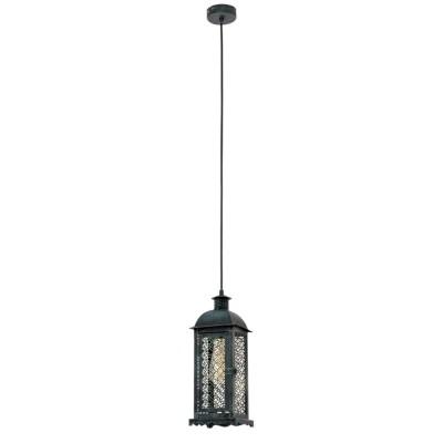 Светильник Eglo 49215Одиночные<br><br><br>Тип лампы: Накаливания / энергосбережения / светодиодная<br>Тип цоколя: E27<br>Количество ламп: 1<br>Ширина, мм: 125<br>MAX мощность ламп, Вт: 60<br>Длина, мм: 125<br>Высота, мм: 1100