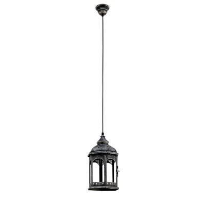 Светильник Eglo 49225Одиночные<br><br><br>Тип лампы: Накаливания / энергосбережения / светодиодная<br>Тип цоколя: E27<br>Количество ламп: 1<br>MAX мощность ламп, Вт: 60<br>Диаметр, мм мм: 170<br>Высота, мм: 1100