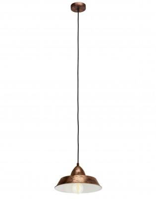 Eglo AUCKLAND 49243 Подвесной светильникПодвесные<br>Компания «Светодом» предлагает широкий ассортимент люстр от известных производителей. Представленные в нашем каталоге товары выполнены из современных материалов и обладают отличным качеством. Благодаря широкому ассортименту Вы сможете найти у нас люстру под любой интерьер. Мы предлагаем как классические варианты, так и современные модели, отличающиеся лаконичностью и простотой форм.  Стильная люстра Eglo 49243 станет украшением любого дома. Эта модель от известного производителя не оставит равнодушным ценителей красивых и оригинальных предметов интерьера. Люстра Eglo 49243 обеспечит равномерное распределение света по всей комнате. При выборе обратите внимание на характеристики, позволяющие приобрести наиболее подходящую модель. Купить понравившуюся люстру по доступной цене Вы можете в интернет-магазине «Светодом».<br><br>Установка на натяжной потолок: Да<br>S освещ. до, м2: 3<br>Крепление: Планка<br>Тип цоколя: E27<br>Цвет арматуры: медный<br>Количество ламп: 1<br>Диаметр, мм мм: 260<br>Размеры основания, мм: 0<br>Высота, мм: 1100<br>MAX мощность ламп, Вт: 60<br>Общая мощность, Вт: 1X60W
