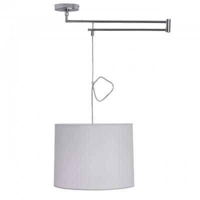 Mw light 493010601 СветильникПодвесные<br><br><br>Установка на натяжной потолок: Да<br>S освещ. до, м2: 3<br>Тип лампы: Накаливания / энергосбережения / светодиодная<br>Тип цоколя: E27<br>Цвет арматуры: серебристый<br>Количество ламп: 1<br>Диаметр, мм мм: 540<br>Высота, мм: 220 - 1200<br>MAX мощность ламп, Вт: 60
