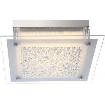 Светильник Globo 49311 LeahКвадратные<br>Настенно-потолочные светильники – это универсальные осветительные варианты, которые подходят для вертикального и горизонтального монтажа. В интернет-магазине «Светодом» Вы можете приобрести подобные модели по выгодной стоимости. В нашем каталоге представлены как бюджетные варианты, так и эксклюзивные изделия от производителей, которые уже давно заслужили доверие дизайнеров и простых покупателей.  Настенно-потолочный светильник Globo 49311 станет прекрасным дополнением к основному освещению. Благодаря качественному исполнению и применению современных технологий при производстве эта модель будет радовать Вас своим привлекательным внешним видом долгое время. Приобрести настенно-потолочный светильник Globo 49311 можно, находясь в любой точке России.<br><br>S освещ. до, м2: 7<br>Тип лампы: галогенная / LED-светодиодная<br>Тип цоколя: LED<br>Цвет арматуры: серебристый<br>Количество ламп: 1<br>Ширина, мм: 360<br>Длина, мм: 360<br>Высота, мм: 104<br>MAX мощность ламп, Вт: 17,3