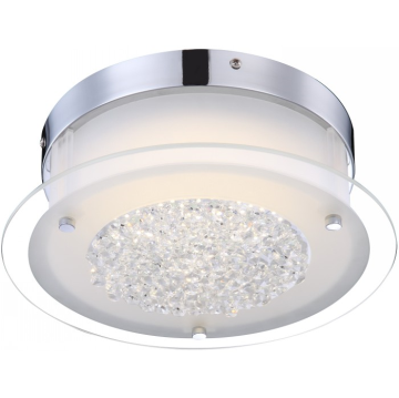 Светильник Globo 49314 LeahКруглые<br>Настенно-потолочные светильники – это универсальные осветительные варианты, которые подходят для вертикального и горизонтального монтажа. В интернет-магазине «Светодом» Вы можете приобрести подобные модели по выгодной стоимости. В нашем каталоге представлены как бюджетные варианты, так и эксклюзивные изделия от производителей, которые уже давно заслужили доверие дизайнеров и простых покупателей.  Настенно-потолочный светильник Globo 49314 станет прекрасным дополнением к основному освещению. Благодаря качественному исполнению и применению современных технологий при производстве эта модель будет радовать Вас своим привлекательным внешним видом долгое время. Приобрести настенно-потолочный светильник Globo 49314 можно, находясь в любой точке России. Компания «Светодом» осуществляет доставку заказов не только по Москве и Екатеринбургу, но и в остальные города.<br><br>S освещ. до, м2: 5<br>Тип лампы: галогенная / LED-светодиодная<br>Тип цоколя: LED<br>Количество ламп: 1<br>Ширина, мм: 280<br>MAX мощность ламп, Вт: 12<br>Длина, мм: 280<br>Высота, мм: 103<br>Цвет арматуры: серебристый